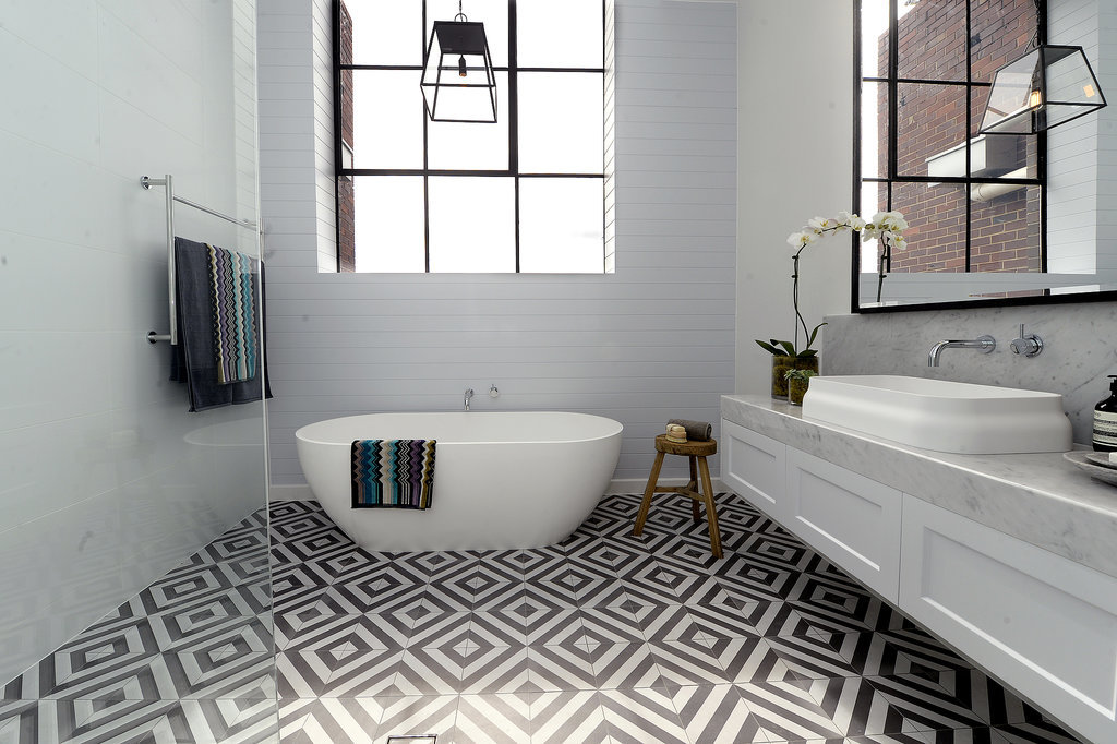 Latest Bathroom Tiles 2014 bathroom tiles : inspiration from daz and dee – the block | dapple