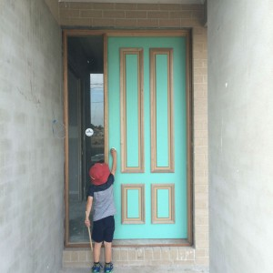 The locked front door