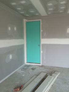 The internal garage door