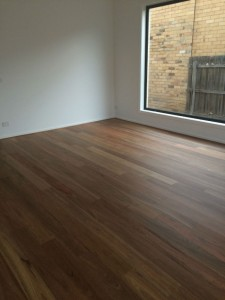 Our stunning Spotted Gum floor