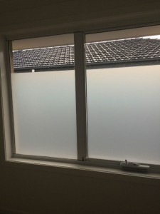 Privacy film up - bye bye view